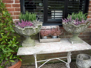 Picture of Pair of Stone Planters
