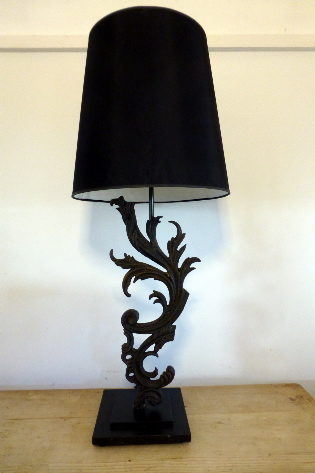 Old balustrade iron work lamp
