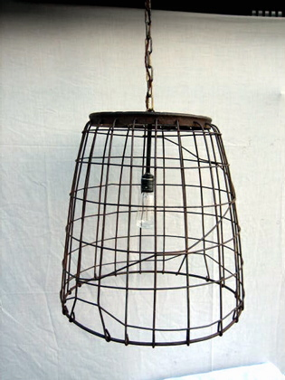 Picture of Metal Basket Hanging Light
