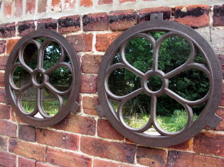 Picture of Belgium round window mirror
