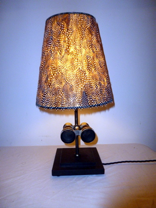 Picture of Green Snake Skin Binoculars Lamp