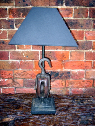 Picture of Old ships block lamp