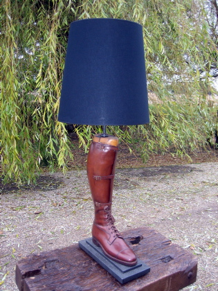 Picture of Leather riding boot table lamp