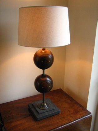 Picture of Reclamed bowls lamp