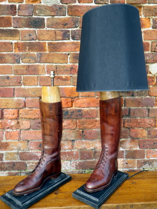 Reclaimed Cavalry boot lamp