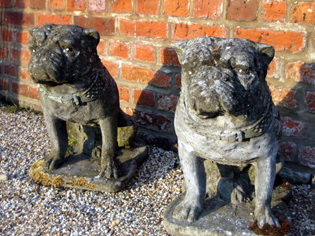 Picture of Pair of reconstituted Bullmastiff dogs
