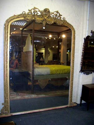 Victorian gilt wood mirror