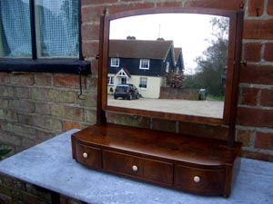 Elegant Regency toilet mirror