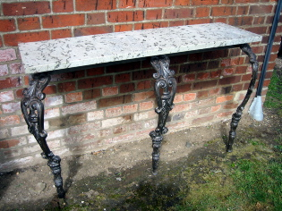 Pair of Cab Leg Console Tables