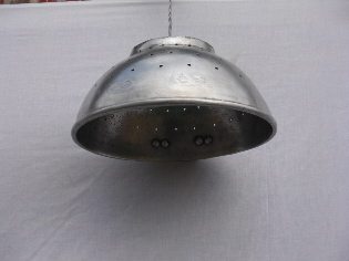 Picture of Old colander lamp