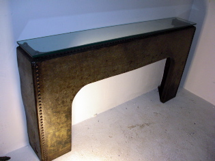 Large Galvanised Console/Fire Mantle