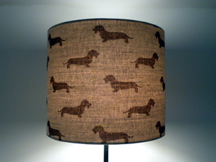 Picture of Drum Dachshund shade