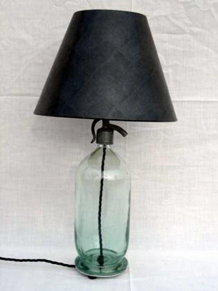European soda bottle lamp