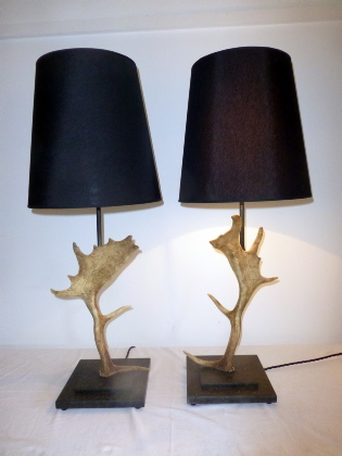 Picture of Pair of Fallow Deer Lamps