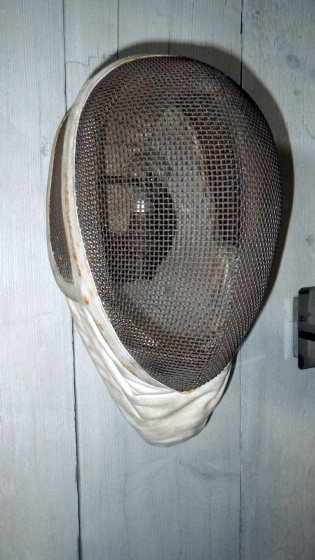 Picture of Fencing Helmet Wall Light