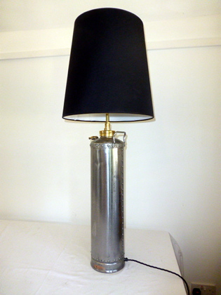 Picture of Polished Fire Extinguisher Lamp