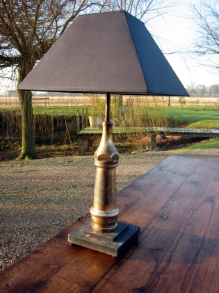 Picture of Fire hose reclaimed table lamp