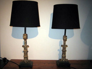 Picture of Flakey Paint Metal Lamps