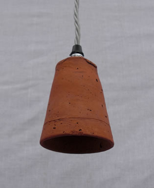 Picture of Victorian terracotta flowerpot hanging lamp