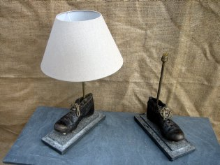 Picture of Footballers boot table lamps