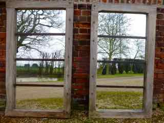 Picture of Pair of oak French barn windows