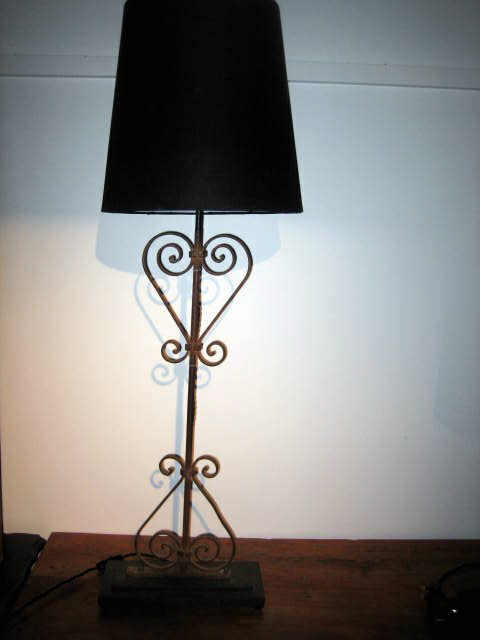 Picture of Pair of French gate lamps