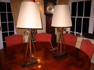 French garden gate table lamps