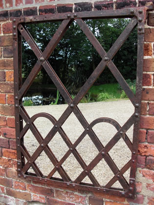Picture of Riveted French gate mirror