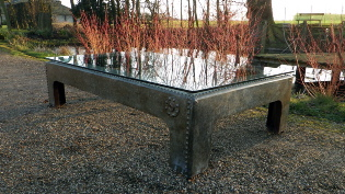 Picture of Large Glass Top Coffee Table