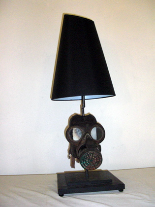 Picture of World War I Gas Mask Table Lamp