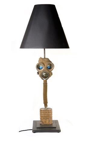 World War I Gas Mask Lamp