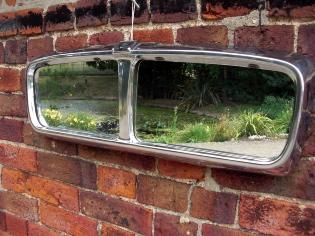 Jaguar grill mirror