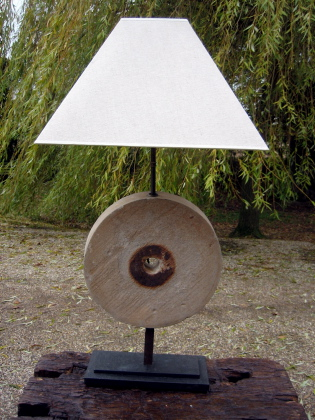 Old Grinding wheel lamp