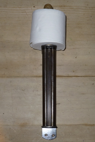 Gun barrel loo papper holder