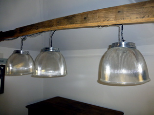 Picture of 3 Holophane Pendant Lights