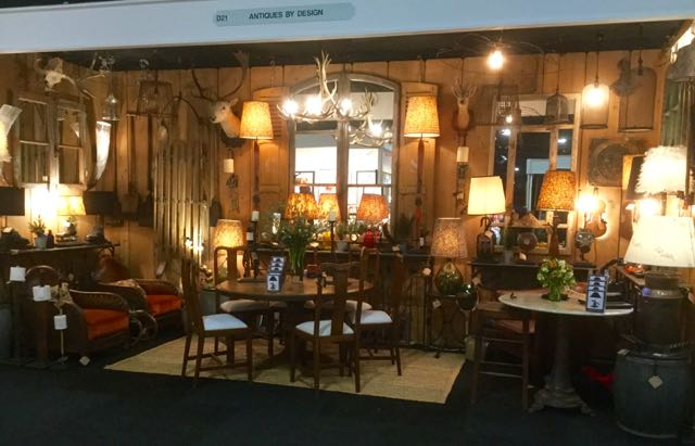 Picture of My stand at the Winter Decorative antique fair in Battersea 2017
