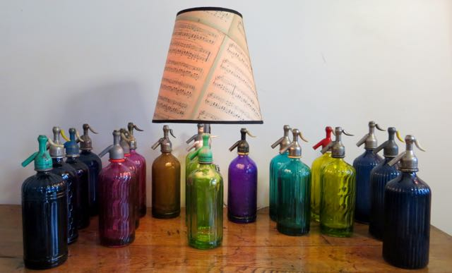 Picture of Coloured soda bottle lamps
