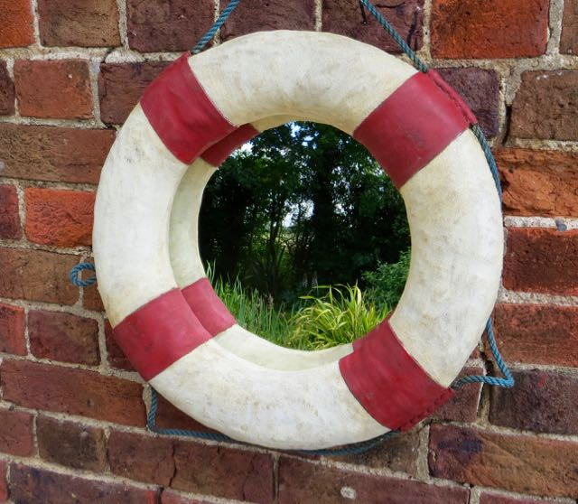 Old yachtsman life ring mirror