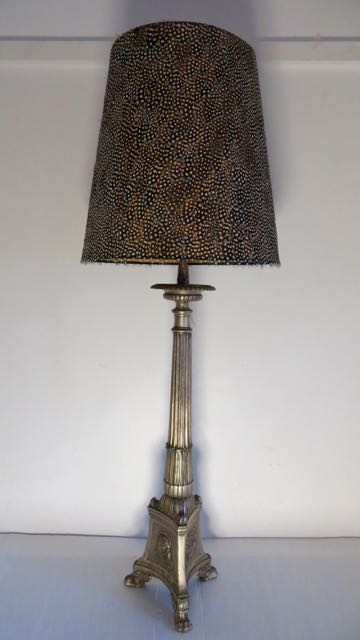 Picture of French Church candle stick lamp.
