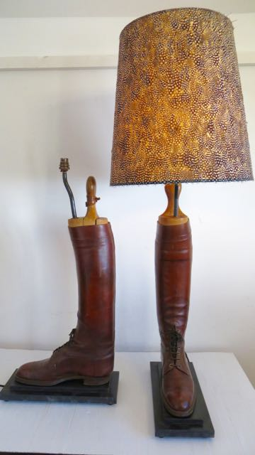Cavalry officers riding boot lamp.