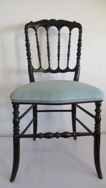 French Napoleon 111 ebonies chair