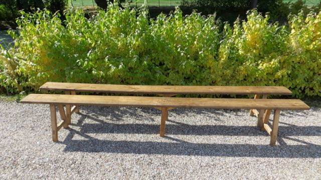 Picture of 3m French benches pair of.