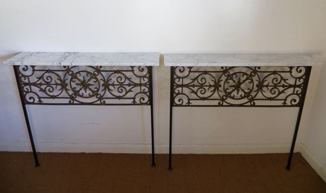 Pair of French decorative consoles