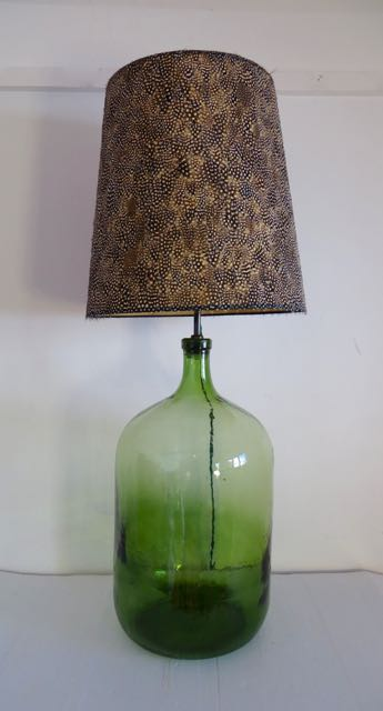 Large French wine bottle lamp