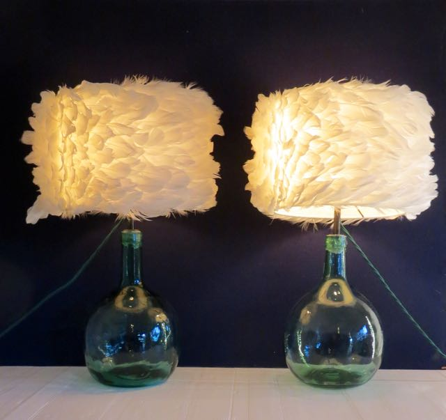 French flagons table lights