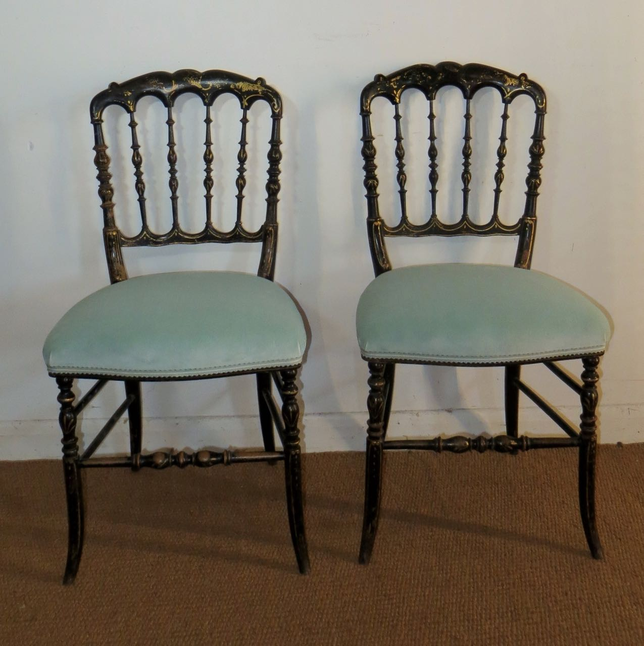 Ebonies French Napoleon 111 chairs