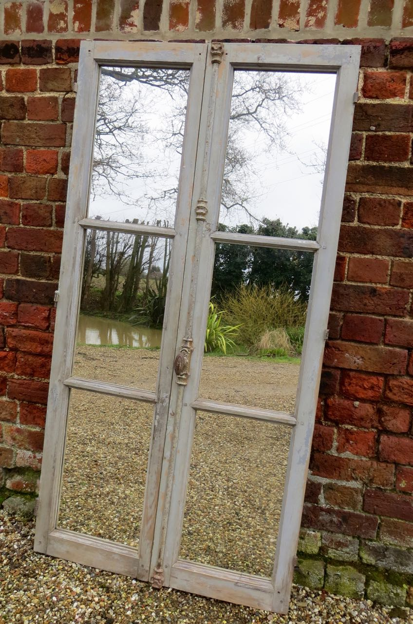 Old French window mirror