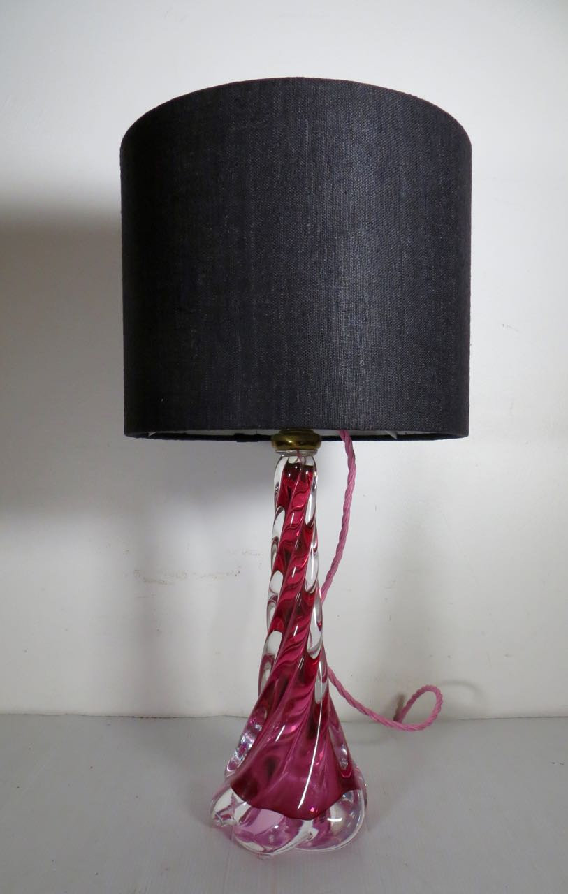 Val St Lambert table lamp