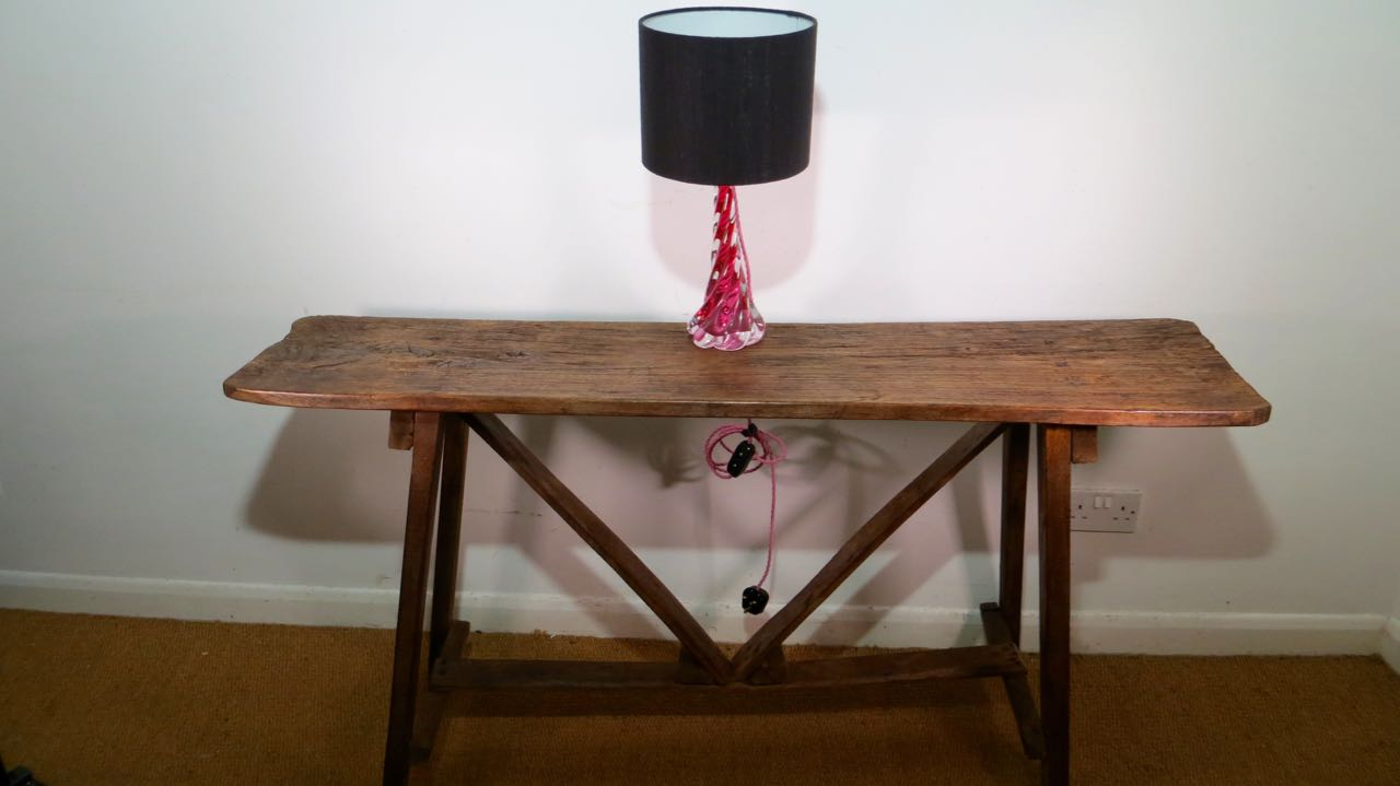 French rustic side table