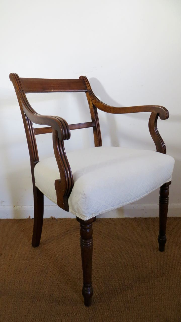 Picture of George 111 mahogany scroll arm chair